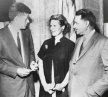 Saund with John F. Kennedy