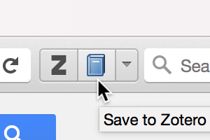 Zotero button