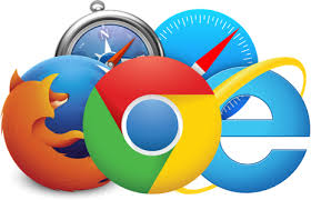 Image of icons for web browser programs, including Safari, Chrome, and Firefox