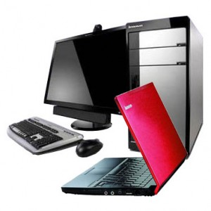 Image of desktop and laptop computers