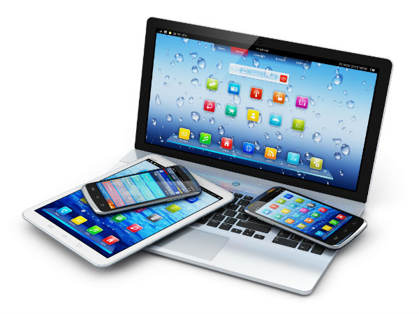 Image of smartphones, pads, and tablet computers