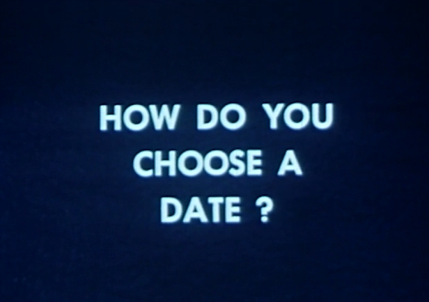 "film still, ""How Do You Choose A Date?"" from ""Dating Do's and Don'ts"" film, Prelinger Archives"