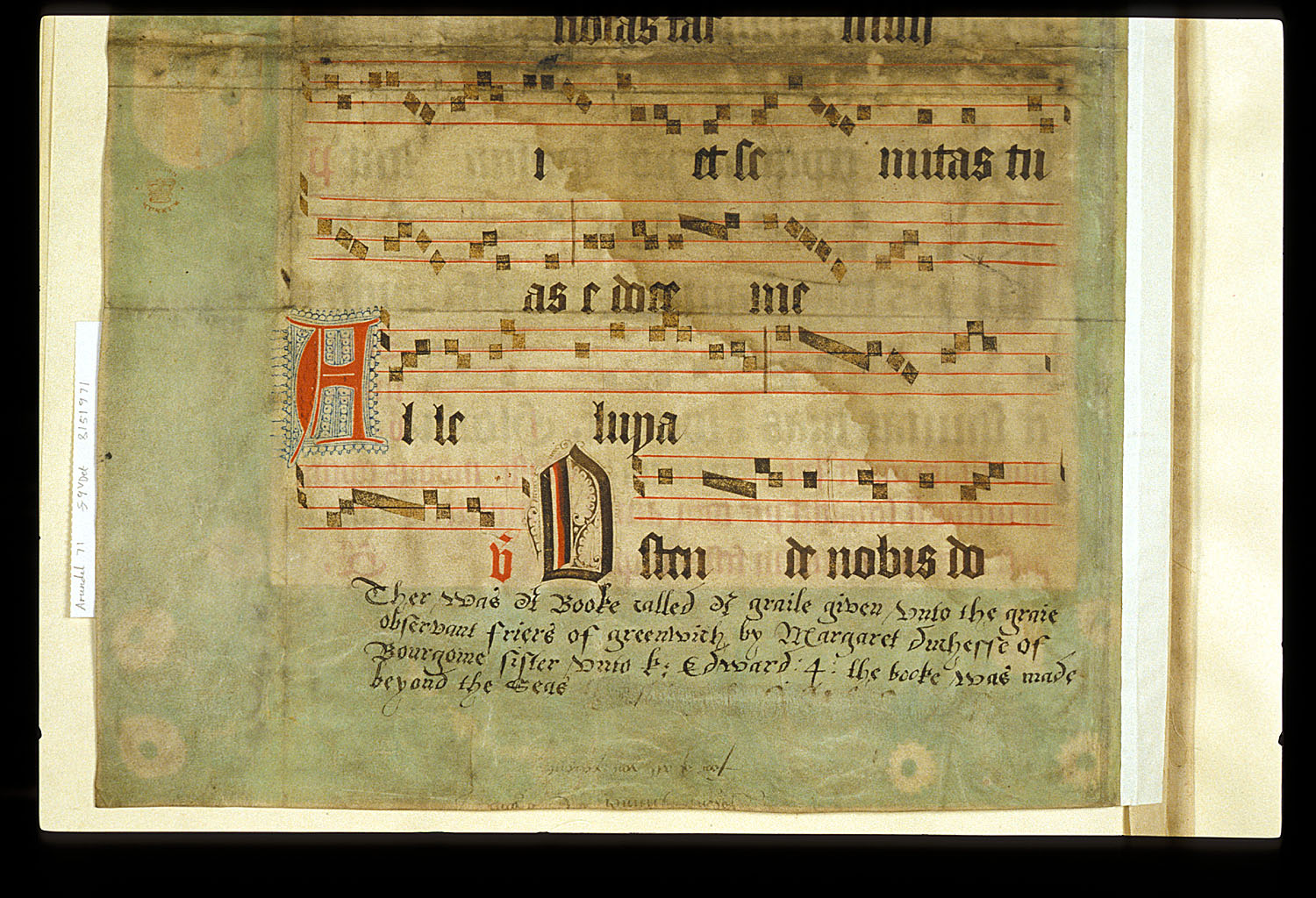 4 staves of music, text written in Latn