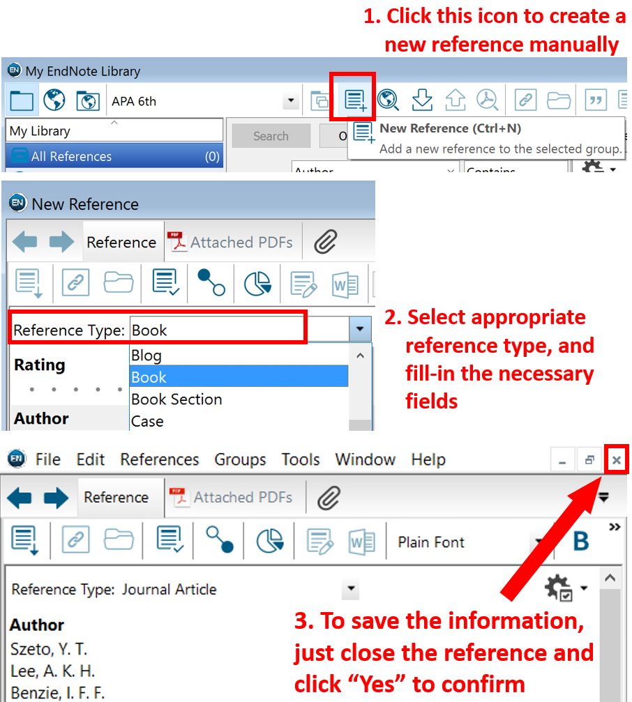 add references reference management tools guides tutorials tips for entering author manually