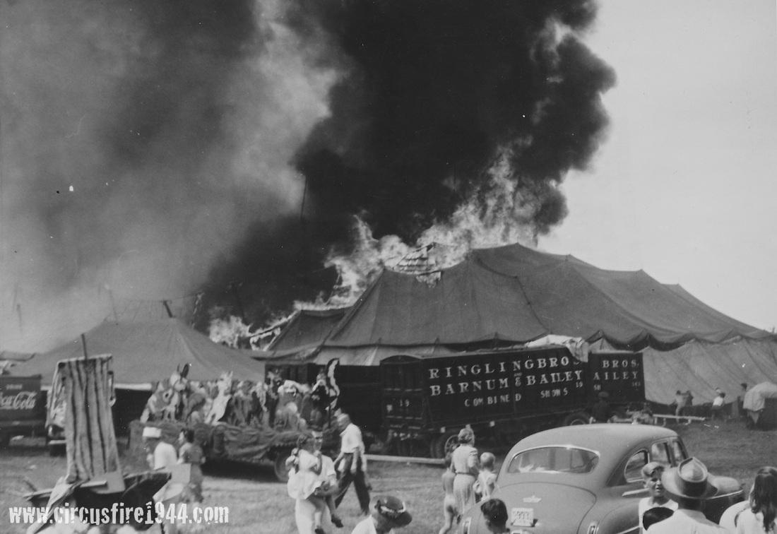 Circus tent on fire & Hartford Circus Fire- 1944 - Major American Fires - Massasoit ...