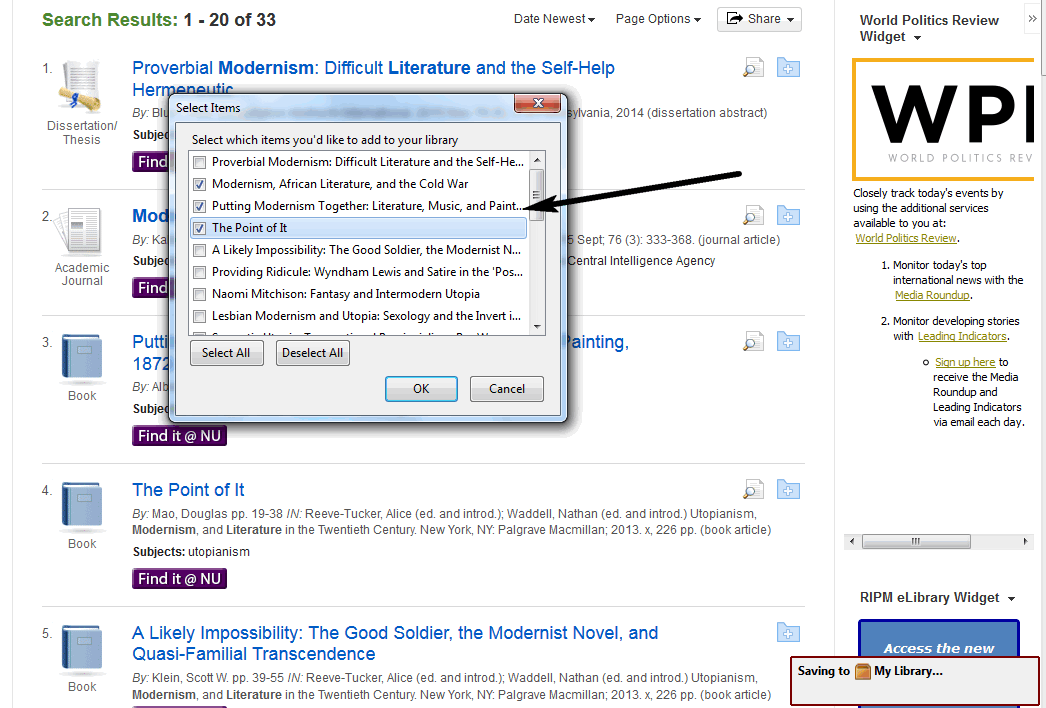 Adding citations from an indexdatabase zotero support libguides all of the citations that were included on the first page of search results will pop up select the citations you want to export to your zotero library ccuart Images