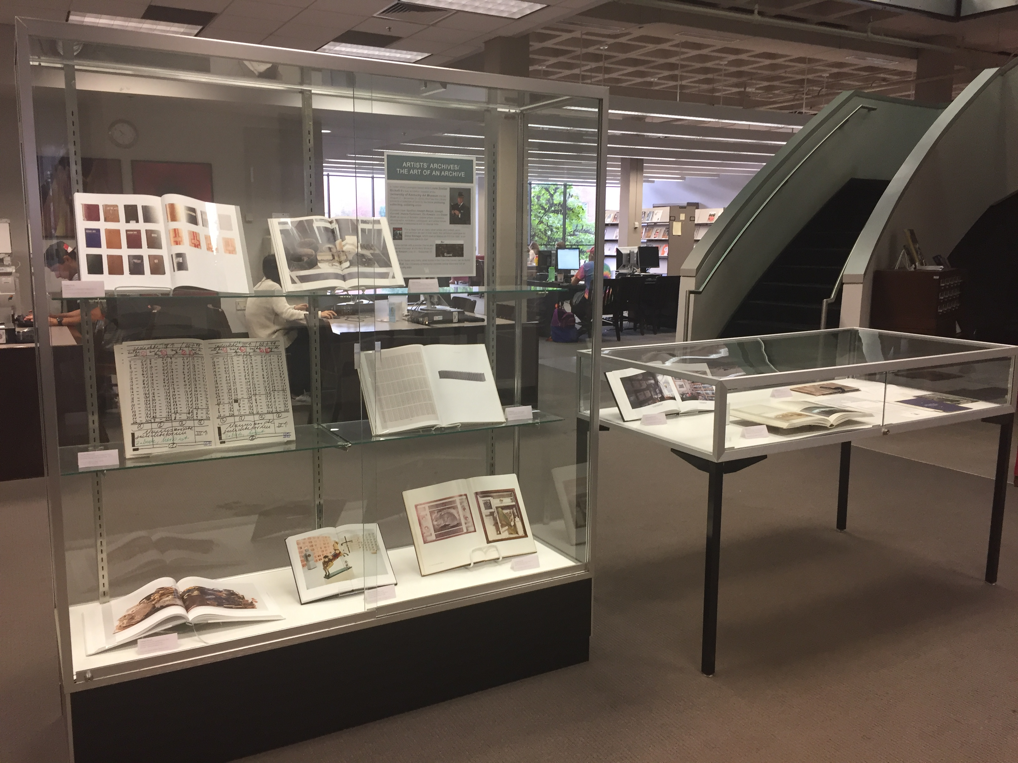 Fine Arts Library display cases