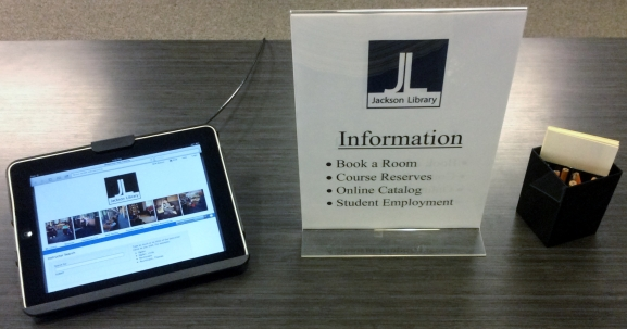 iPad to look up information
