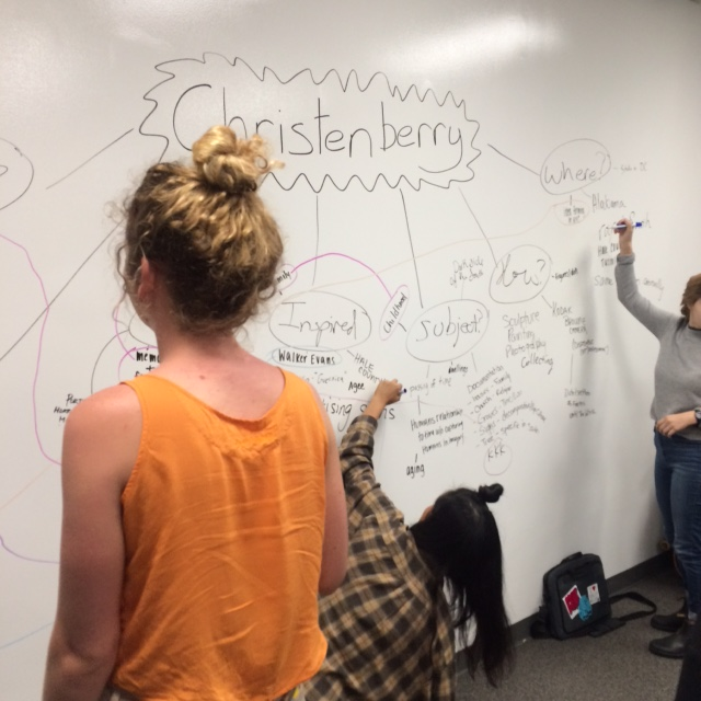 In-class concept mapping for an exhibition about William Christenberry