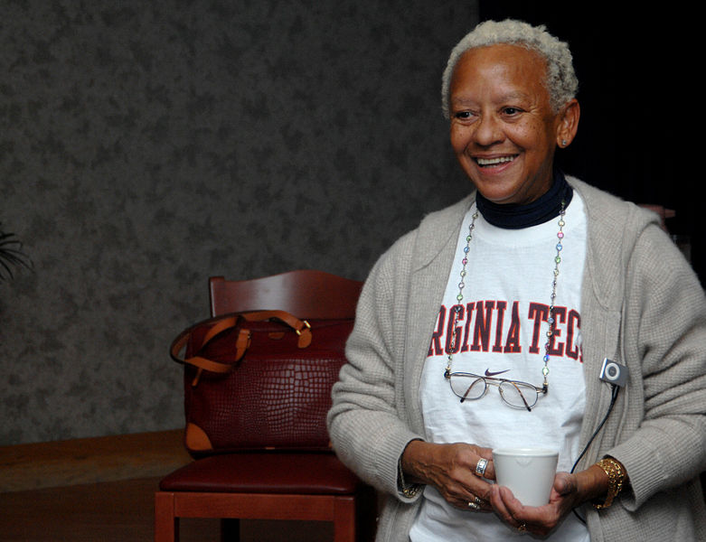 Nikki Giovanni, world-renowned poet, writer, commentator, activist and educator, speaks to Gunfighters about black history at the Gunfighter Club.