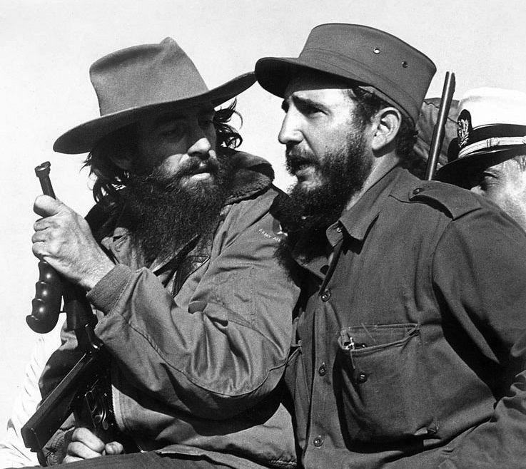 Fidel Castro and Camilo Cienfuegos, 1959. Photo by Luis Korda