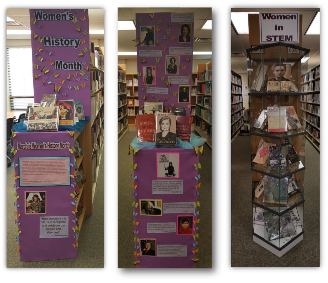 Women's History Month 2017 Displays