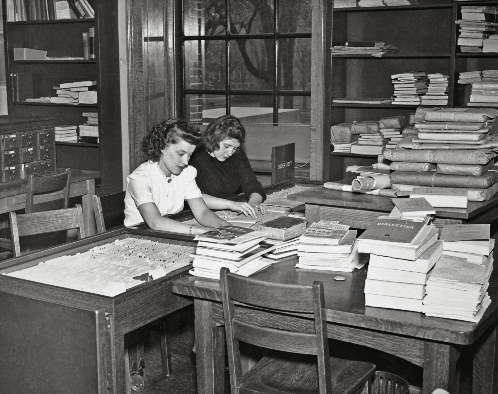 Catalogers in the Widener Library, Harvard University