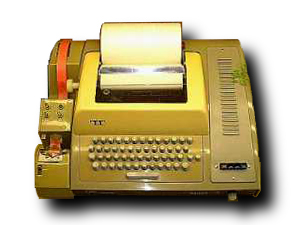 Teletype machine, circa 1967