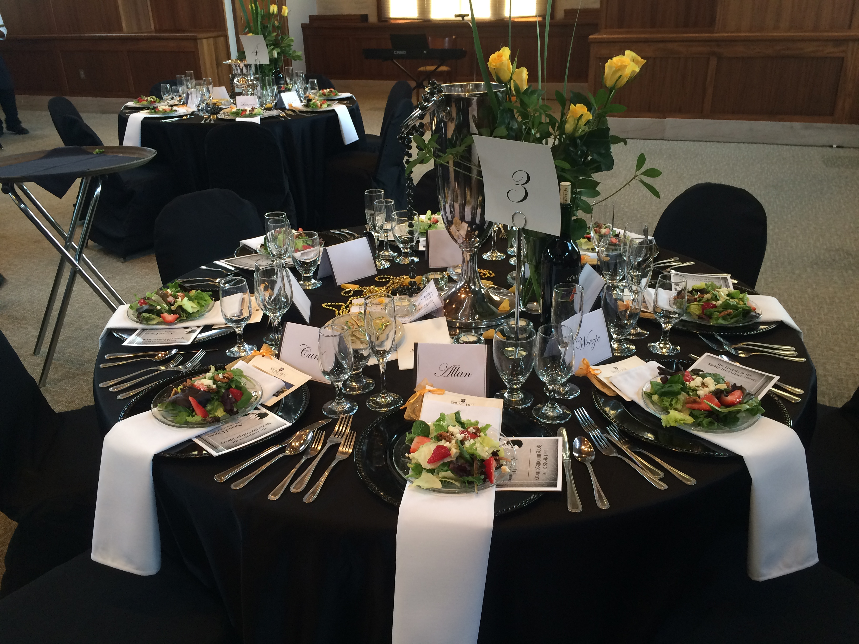 Centerpiece and Table for Annual Dinner 2015