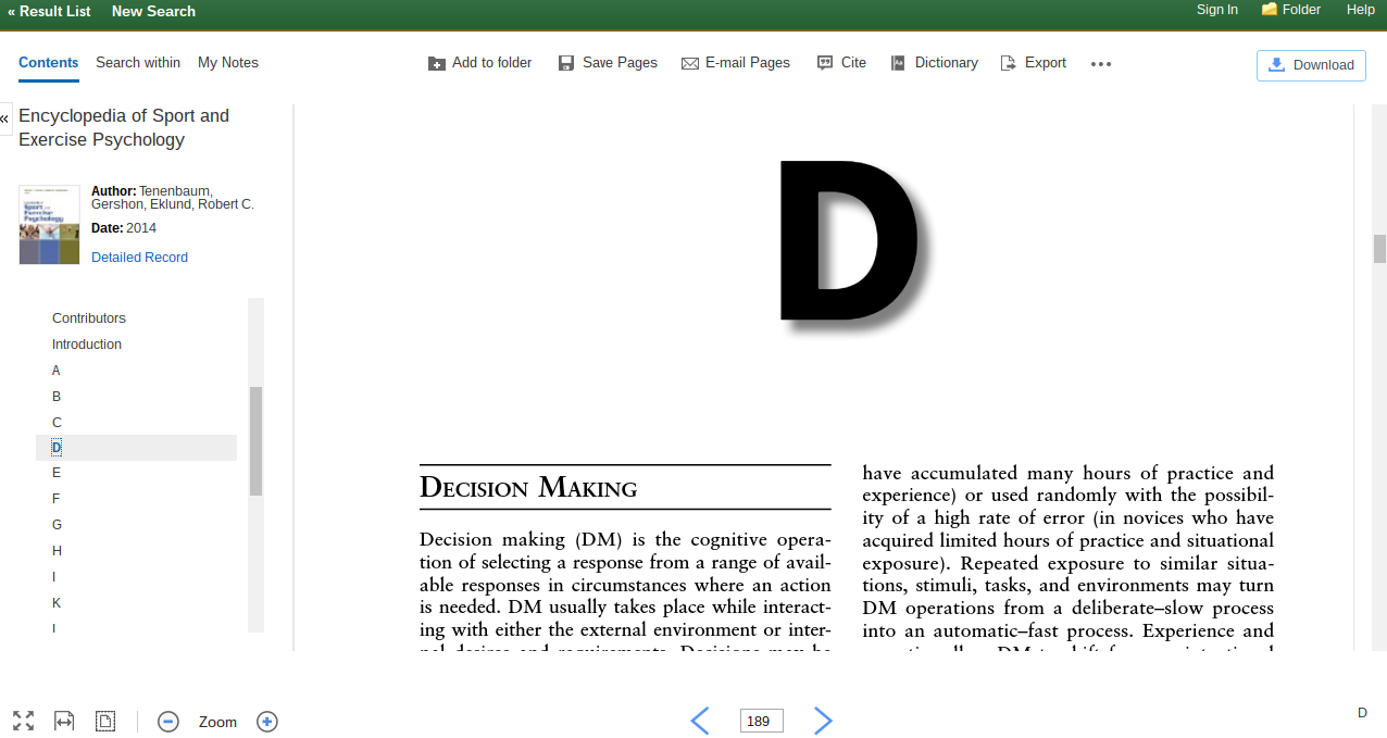 Can Click On Pdf Full Text We Can Click Through The Contents Of The  Book On The Left Side Of The Screen To Get To The Entry That We Are  Interested In