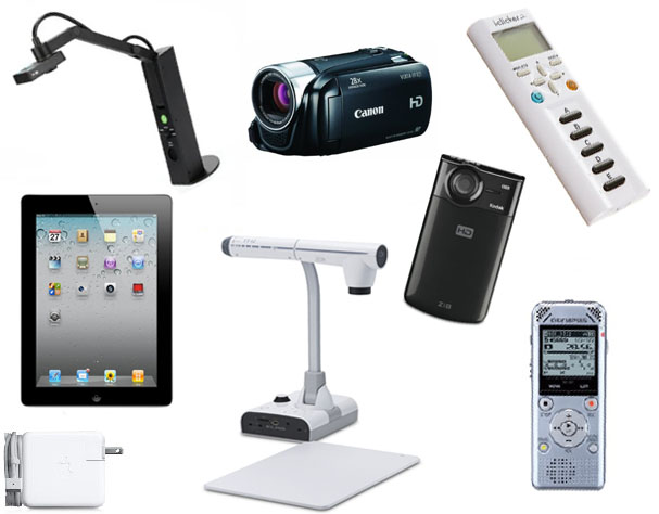 Various images  of educational technology