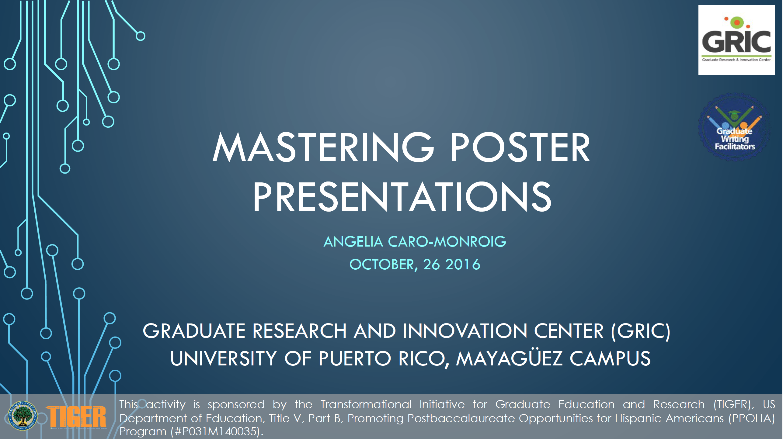 Mastering Posters Presentation