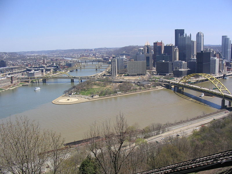 View of downtown Pittsburgh at the Point