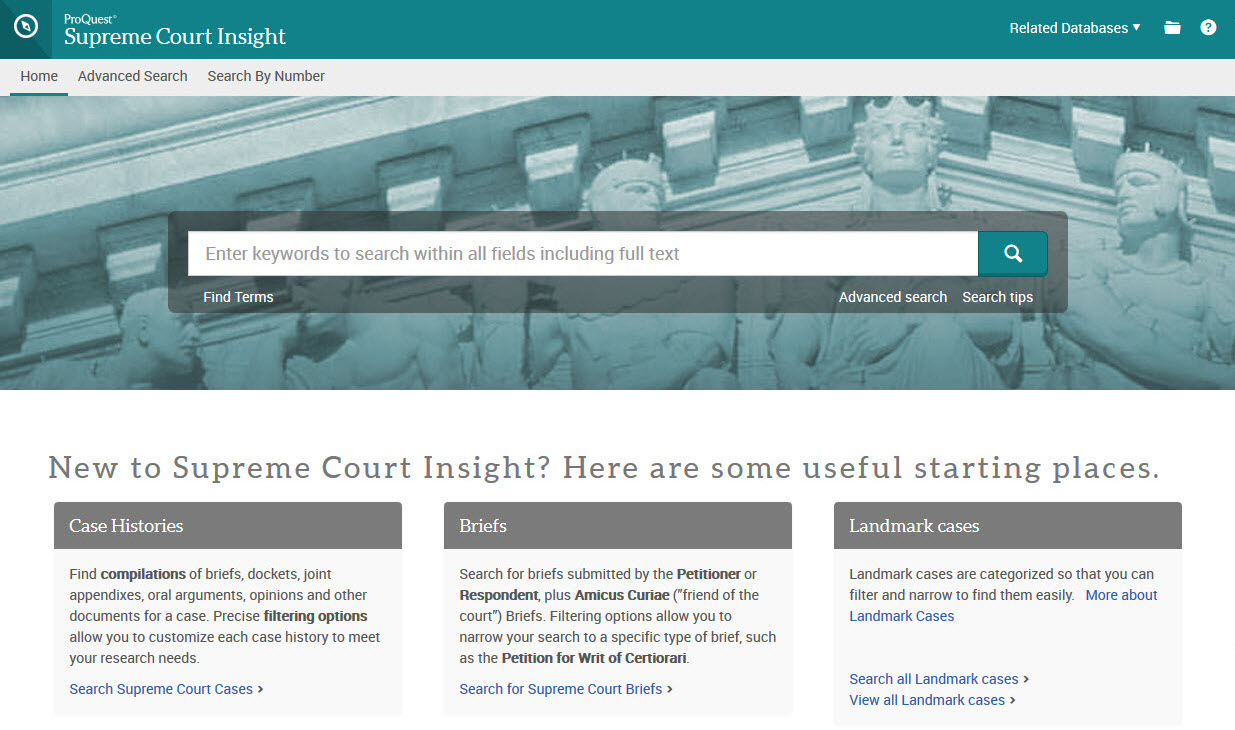 Supreme Court Insight Home page