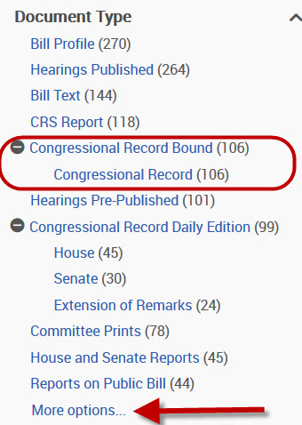 results filter showing Congressional Record Permanent Digital Collection