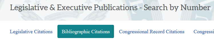 Search by Number - Bibliographic Citations