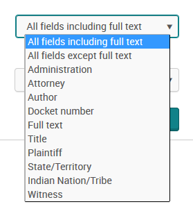 fields on advanced search form