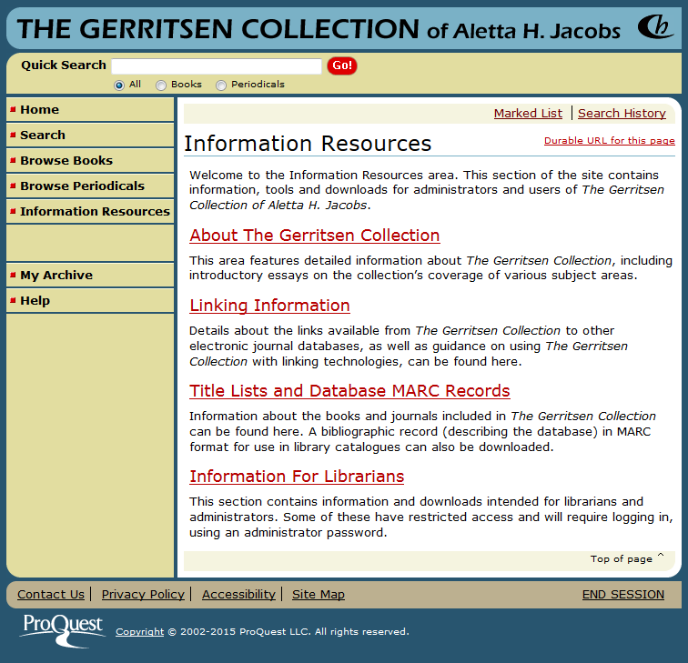 information resources page