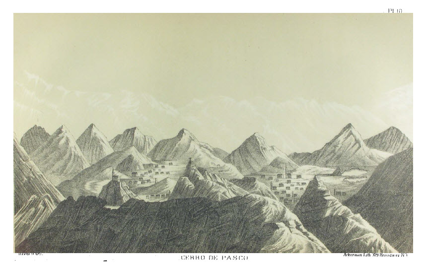 drawing of Cerro de Pasco