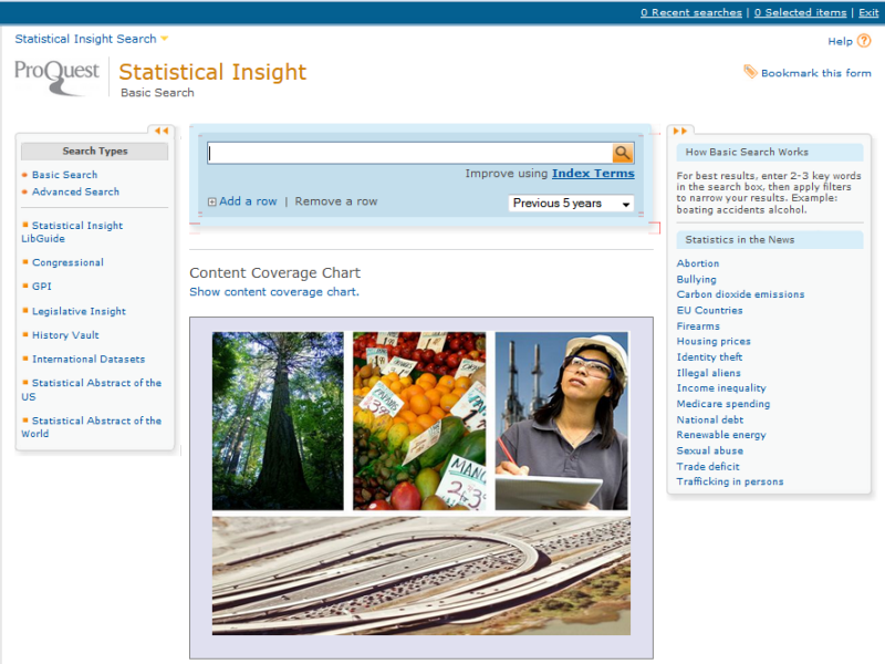 Statistical Insight Homepage
