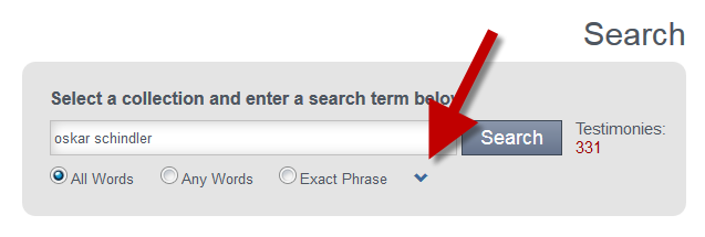 using the caret to access additional filters on the quick search page