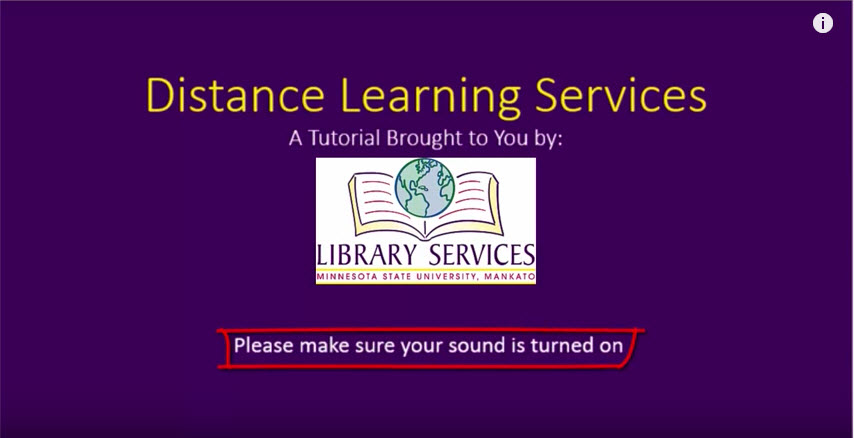 Distance Learning Services video screenshot