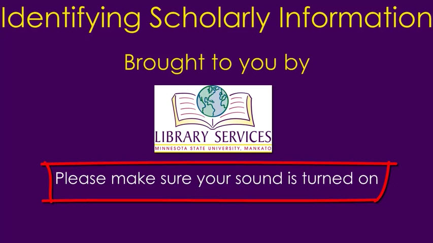 Identify Scholarly Information video screenshot