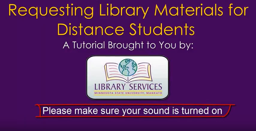 Requesting Library Materials for Distance Students video screenshot