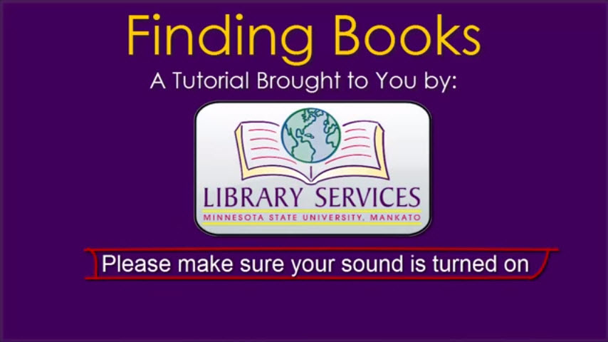 Finding books video screenshot