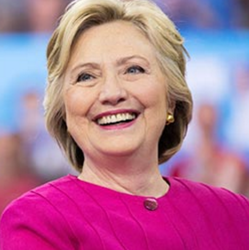 Photo of Hillary Clinton, smiling