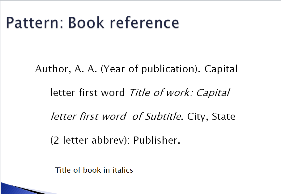 Example of a book report in apa format