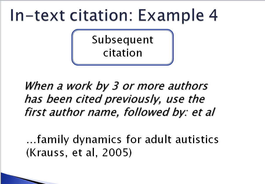 apa style citation page Using apa format 1 using apa format (6th edition) apa formatting and documentation style is used in a variety of disciplines, including nursing.