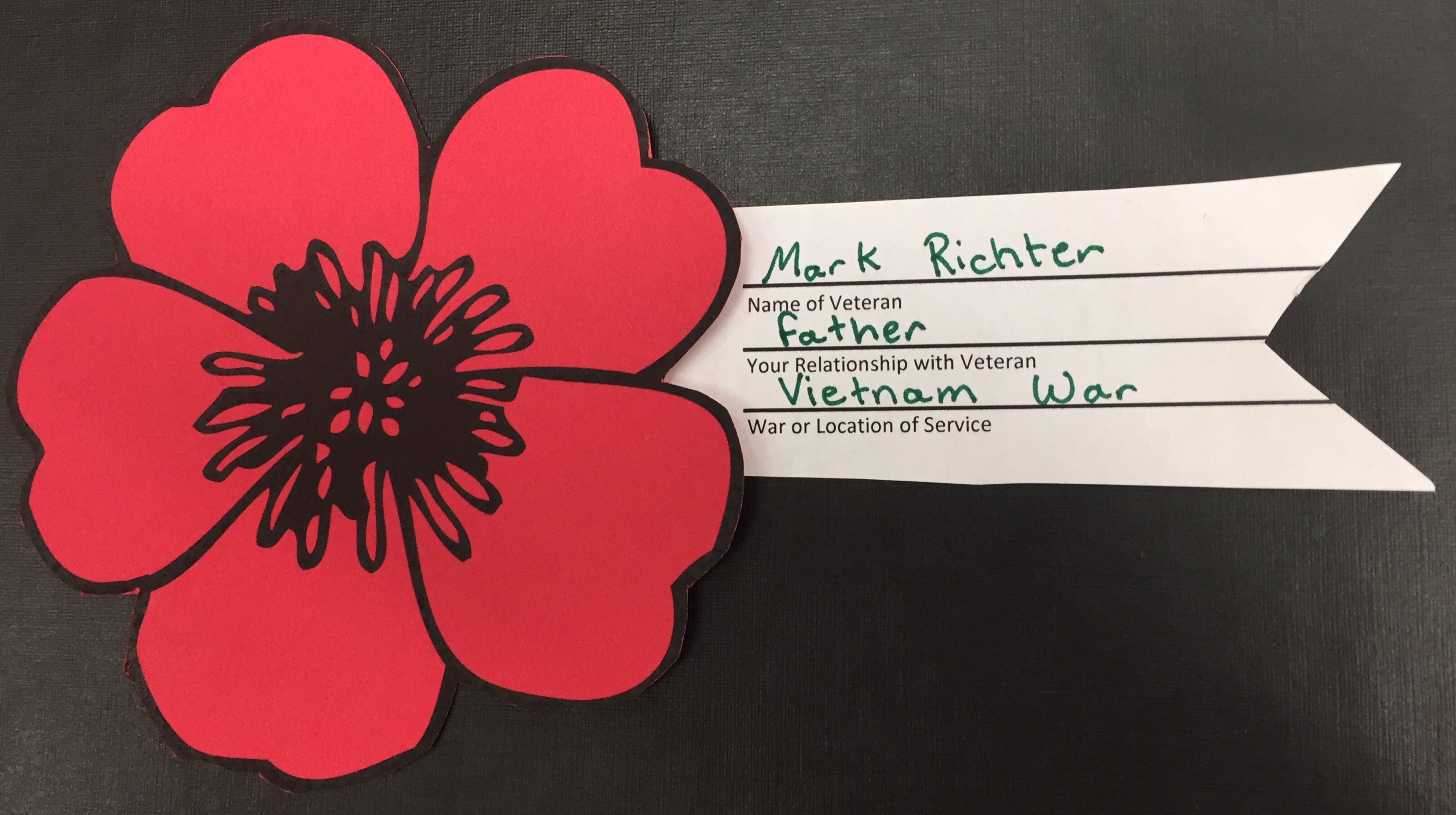 Veterans Day 2016 Veterans Day Poppies Lee High School Library