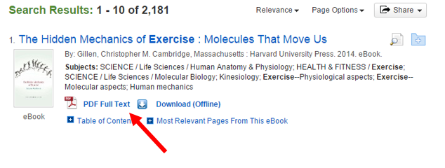 "screenshot of EBSCO eBook results page with arrow pointing to ""PDF Full Text"""