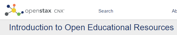 Introduction to Open Educational Resources banner - openstax cnx