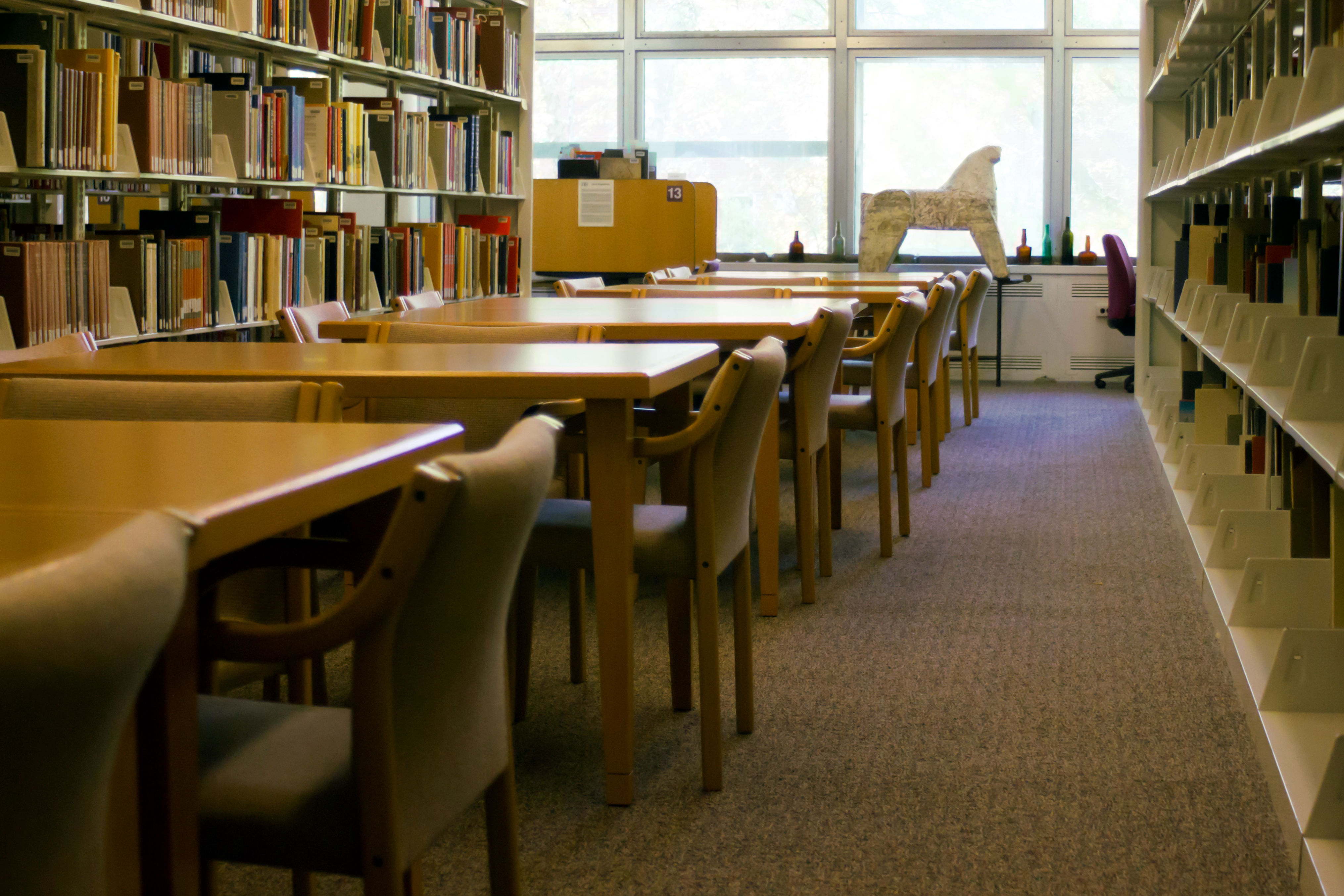Seating area in the art library