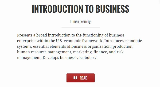 Introduction to Business - Lumen Learning