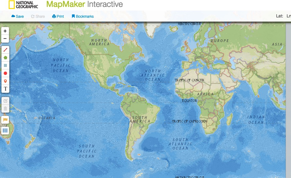 National Geographic Map Maker: Mr. Boxell\'s Page