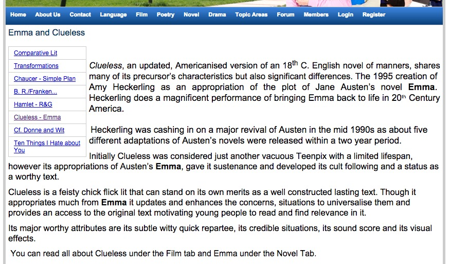 comparing emma and clueless transformation essay