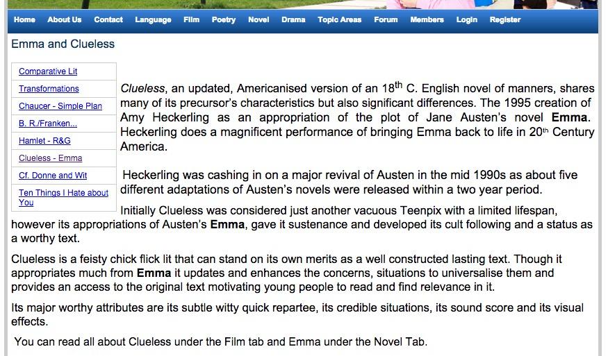 emma clueless essay topics