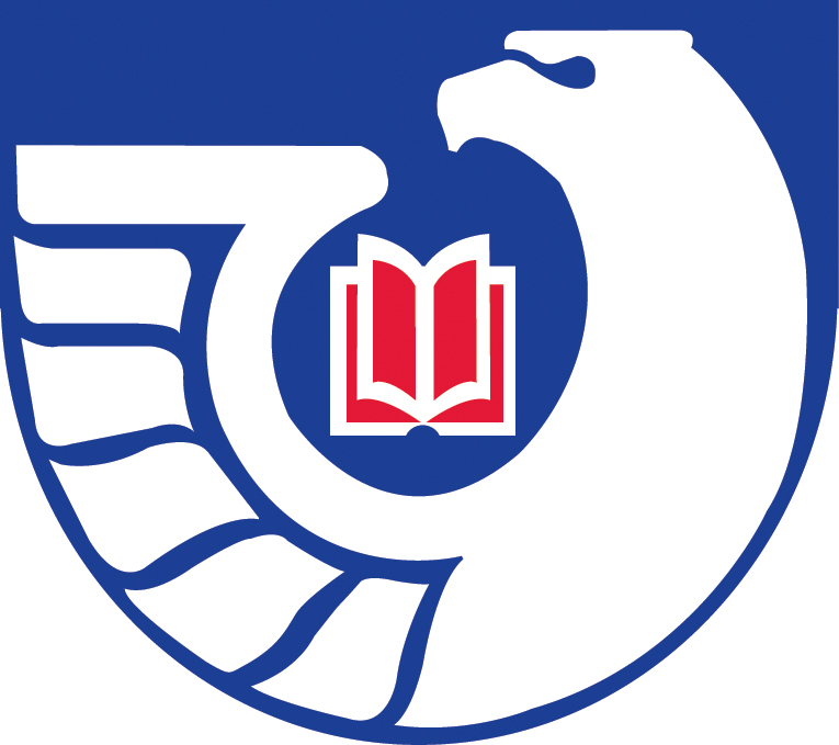 Emblem of the US Federal Depository Library Program: an eagle with a book near it.
