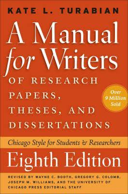 Kate Turbian's Manual for Writers cover