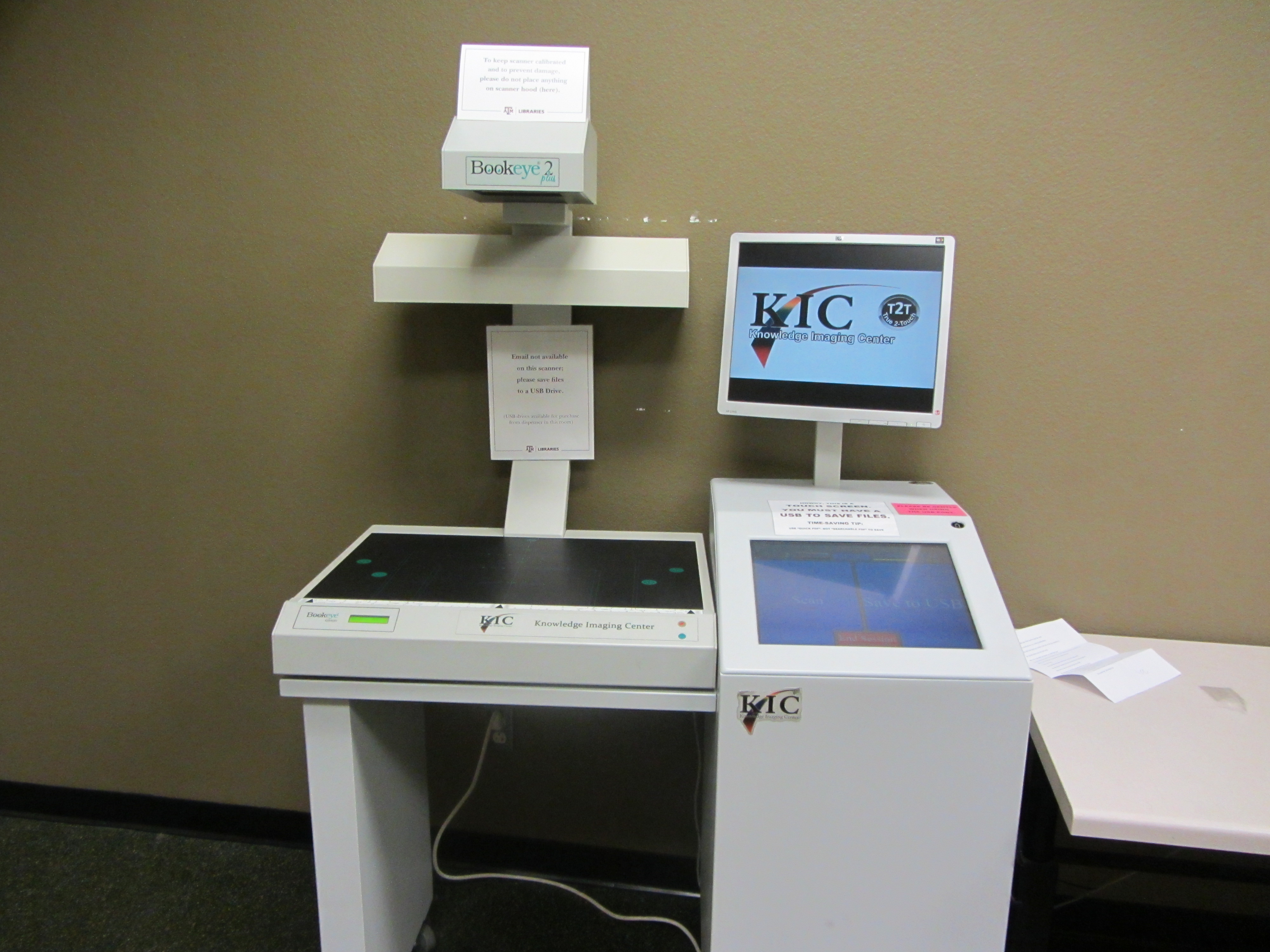 KIC scanner in the Evan's Library at the Texas A&M University
