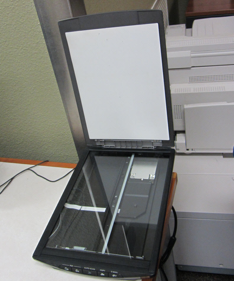 Flatbed scanner at Evan's Library at Texas A&M University